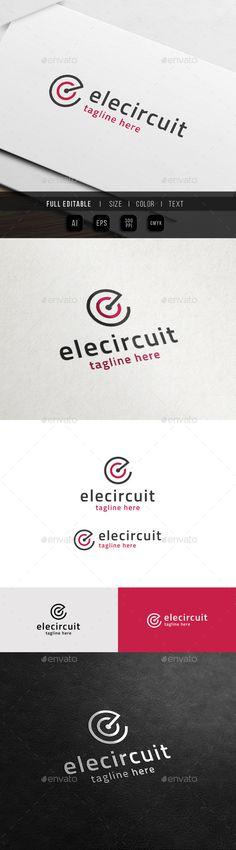 Electric Circuit  Creative C E Logo — Vector EPS #c logo #creative • Available here → https://graphicriver.net/item/electric-circuit-creative-c-e-logo/11372952?ref=pxcr