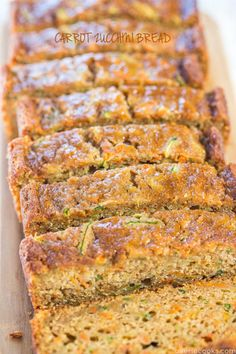 Carrot Zucchini Bread - Fast, easy, one bowl, no mixer!! Super soft, moist, and tastes so good you'll forget it's on the healthier side!! (Perfect use for summer zucchini!)