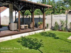 kerti terasz, terasz tervezés, kerttervezés Pergola, Gazebo, Budapest, Beautiful Gardens, Sidewalk, Outdoor Structures, Patio, House Styles, Outdoor Decor