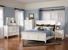 Signature Design by Ashley Prentice 4 PC King Panel Bedroom Collection at Leon Furniture Store