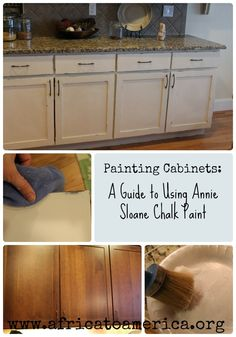 Kitchen Cabinet Makeover. awesome tutorial on how to pain your cabinets with Annie Sloan chalk paint! Chalk Painting, Painting Furniture, Painting Tips, Furniture Projects, Diy Furniture, Recycled Furniture, Art Projects, Painting Cabinets, Chalk Paint Cabinets