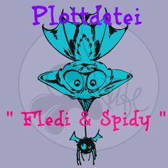 Weiteres - Plottdatei Tintenrebell Fledi & Spidy - ein Designerstück von Tintenrebell bei DaWanda