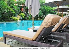 beautiful swimming pool in the tropics Resort