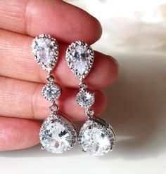 Ohrringe lang kristall
