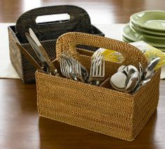 This may be great to use if you are working with a small kitchen so more drawer space will be free.  Also, for a larger family that goes thru flatware quickly.  I plan to keep one on our kitchen table!