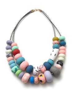Stacy Big Bead double strand necklace | Emily Green