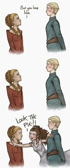 The new cure for awkward silences :) Margaery would have been doing that the rest of Joffrey's life...in the BEST case scenario. I love show!Marge