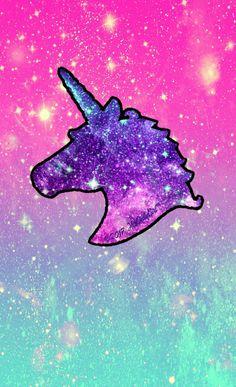 Sweet unicorn galaxy wallpaper I created for the app CocoPPa.