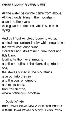 David Whyte, contemporary poet.