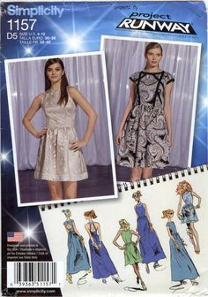 Simplicity 1157 Misses' Dress in Three Lengths with Bodice Variations