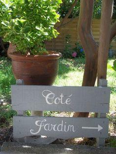 Garden side - Mara E. Outdoor Crafts, Outdoor Projects, Outdoor Decor, Nursery Wall Art, Wall Art Decor, Garden Online, Side Garden, French Country Style, Flowering Trees
