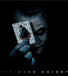 This final example of typography is a great one. In this example, someone had taken the Dark Knight promotional photos and used typography as a form of art to make out the face of the joker. This use of typography is common for things like album covers, movies, etc.