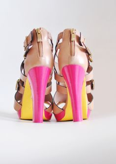 Turn last year's shoes into a fresh new style! DIY Neon shoes. via @Kevin & Robin -