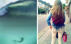 Mermaid, gypsy style, color hair,