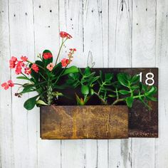 Rusty Recycled Metal Planter Box by Mulbury