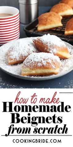 You don't have to make a trip to the Big Easy to enjoy fluffy beignets. Learn how to make beignets from scratch right in your own home! desserts from scratch How to Make Beignets [from scratch] How To Make Beignets, Delicious Desserts, Yummy Food, Healthy Food, Comfort Food, Food To Make, Easy Foods To Make, Easy Things To Cook, Easy Desserts To Make