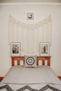Makramee-Vorhang Makramee Wand hängen Makramee von TheWovenDream
