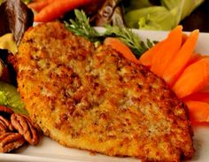 BREADED CHICKEN BREASTS WITH POTATOES?!  THAT WAS WHAT I ATE THIS MORNING IN THE BREAKFAST!  BUENISIMO!  DELICIOUS!