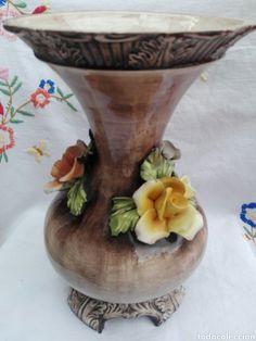 Gran jarrón florero Capodimonte Italia