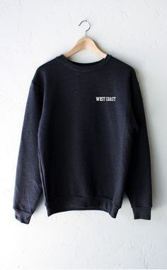 - Description Details: Dark heather grey oversized unisex fit sweatshirt with print featuring ' West Coast' on front left chest by NYCT Clothing. Unisex, oversized/loose fit. Measuerements: (Size Guid