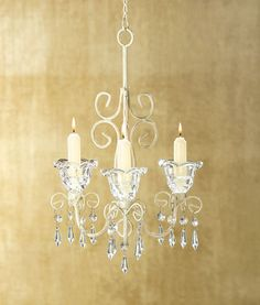 Shabby Elegance Scrollwork Candleholder - Add battery operated taper candles for a safe princess room.