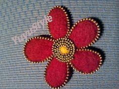 Yuyu Style _ Macramé y más: Broche lana fieltrada