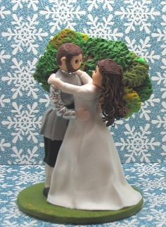 Wedding Cake Topper Knight and Princess by MandMClayCreations, $95.00