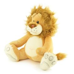 Leão de Pelúcia Soft Grande Caramelo