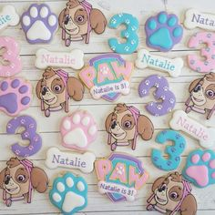 "5 Likes, 1 Comments - Jessica Edwards (@jessievirginia) on Instagram: ""Paw Patrol Skye cookies! #decoratedcookies #yxe #saskatoon Logo, number 3 and Skye cutters are…"""