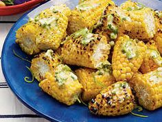 Add south-of-the-border flavor to buttery grilled corn with jalapeño peppers, cilantro and lime juice.
