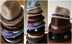 How to crochet a fedora. Free pattern