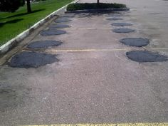 Asphalt Repair with EZ Street cold asphalt is, well, EZ! Repair potholes in concrete or asphalt. Perfect for asphalt road repair, parking lot repair and driveway asphalt repair. Asphalt Driveway, Asphalt Road, Asphalt Repair, Parking Lot, Garage Ideas, Attic, Stepping Stones, Cold, Street