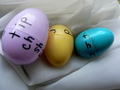Easter eggs to practice word families