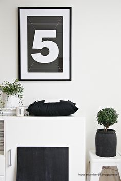 Via House Number 15 | Black and White | Number 5 Print