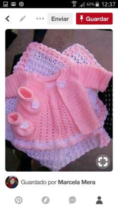 Baby Crochet Sweater jacket Hat and by StonehouseGals This Pin was discovered by Wil Soft and lovely. My gift to my sister on her ba Crochet Baby Sweaters, Crochet Baby Jacket, Crochet Baby Clothes, Baby Blanket Crochet, Baby Sweater Patterns, Baby Knitting Patterns, Baby Patterns, Blanket Patterns, Crochet Pattern