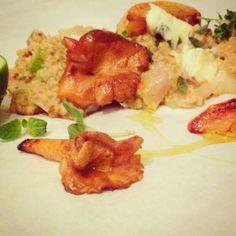 Mine matskriblerier: Byggotto med krabbe, kantarell og eple