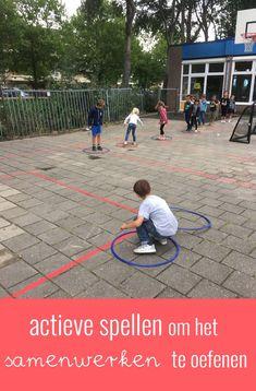 Activiteiten om het samenwerken te bevorderen Outdoor Education, Outdoor Learning, Gross Motor Activities, Classroom Activities, Games For Kids, Activities For Kids, Outdoor School, Kids Sports, Primary School