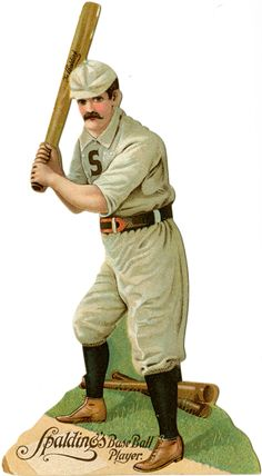 Baseball player cutout, c. 1900. @Evelyn Spencer Museum of American History, Smithsonian