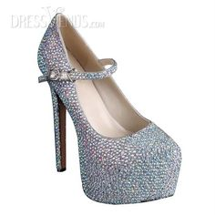 552d6c6594a Elegant Shining Sheepskin Upper Stiletto Heel Closed-toe Wedding Shoes cozy