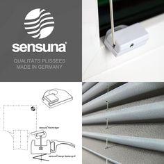 Der sensuna® Flachträger zur Plissee Montage auch an schmalen ...