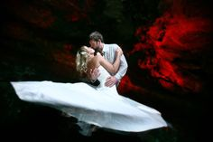 This is from one of our first Trash the dress sessions in cenotes, shot back in 2006!  Del Sol Photography
