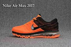 Best Seller Nike Air Max 2017 +3 Men Orange Black Factory Get - $70.95