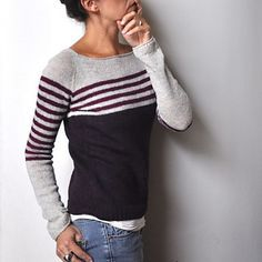 This links to a sweater pattern. I can't knit but I would love a sweater with stripes and color blocking like this! ravello by Isabell Kraemer