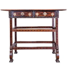 17th Century Indo-Portuguese Table | From a unique collection of antique and modern console tables at https://www.1stdibs.com/furniture/tables/console-tables/