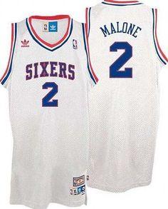Philadelphia 76ers 2 Moses Malone White Jersey Moses Malone 80b415ec8