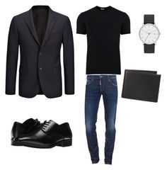 """""""smart black"""" by marchel254 on Polyvore featuring Dolce&Gabbana, Dsquared2, Joseph, Stacy Adams, Skagen, The Men's Store, men's fashion and menswear"""