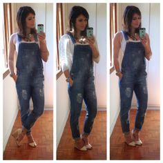 Mood do dia - Jardineira Jeans