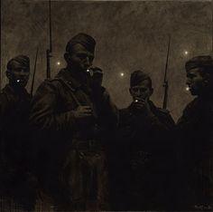 """thunderstruck9: """"Rinat Voligamsi (Russian, b. 1968), Dusk. Ursa Major, 2010. Oil…"""