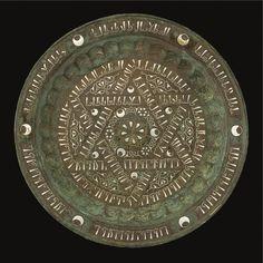 A SILVER-INLAID BRASS TRAY, KHURASAN, 12TH-13TH CENTURY