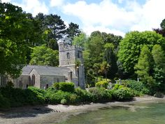 St Just in Roseland Church, Roseland Peninsula, Cornwall